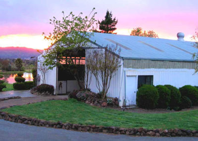 DeVito Equestrian Center Main-Barn-at-Sunset