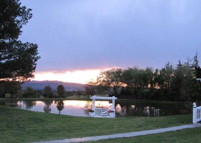DeVito Equestrian Center Pond-at-Sunset
