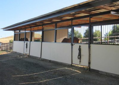 Double Stalls with 24' x 200' Private Paddocks